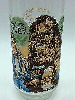 1977 Star Wars Coca Cola Burger King collectible Glass Chewbacca Han Solo
