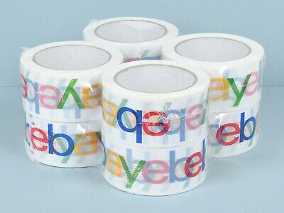 "8 Rolls Official eBay Branded Packaging Tape - 2"" x 75 Yards per Roll & 2.2 mil"