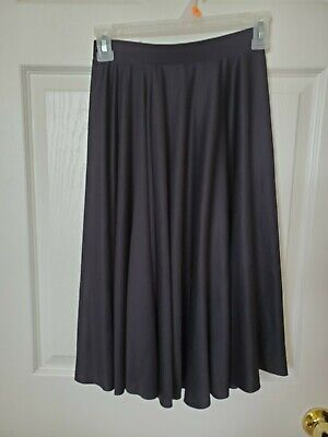 Body Wrappers Adult Small Black Character Dance Below-The-Knee Skirt