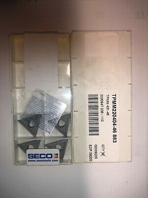 SECO CARBIDE INSERTS TPMM 220404-46 883 TPMM 431-46  QUANTITY=4pk (6 available)