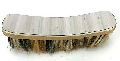 "Vintage QUALITY SHOE SHINE Brush 9"" x 2.25"" Horse Hair Bristles Large Wooden Old"