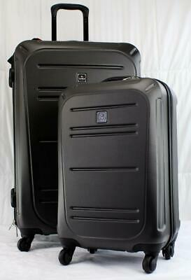 """TAG VECTOR II 2 PIECE HARDSIDE SPINNER LUGGAGE SET CHARCOAL **used** 28"""" 20"""""""