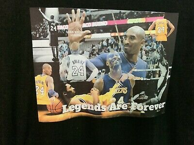 Kobe Bryant LA Lakers Custom Made Legends Are Forever T-Shirt Size XL
