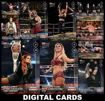 Topps SLAM WWE TOPPS NOW ROYAL RUMBLE + WORLDS COLLIDE [10 CARD SET] Charlotte++