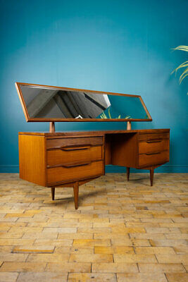 White & Newton Dressing Table Afromosia Teak Vintage Retro Mid Century