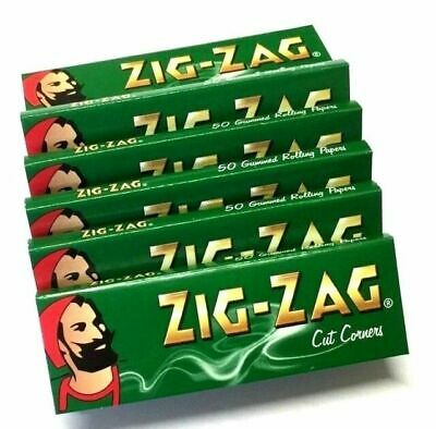 5/10/20/50/100 Zigzag Green Regular Rolling Papers - Fast Free Delivery  zig zag