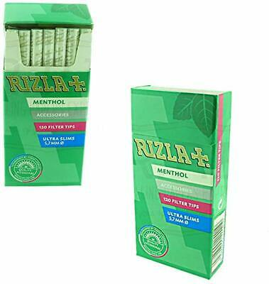 1/2/5/10/20 Rizla Menthol Ultra Slim Filters - Fast Free Delivery