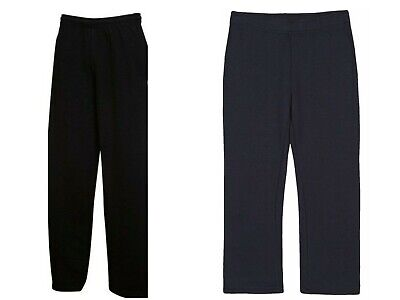 Kids Girls Boys Jogging Bottoms Fleece School PE Trousers BLACK NAVY Age 3Y-16Y