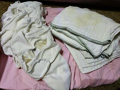 6 Pro Rap Cloth Diaper Lot L 24-35 lb with 9 inserts stains stained