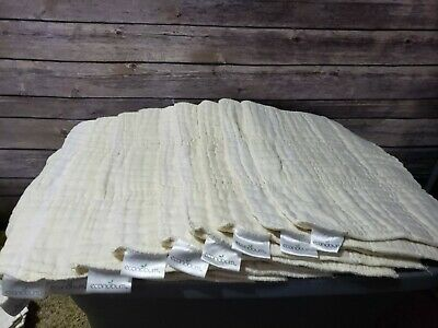 econobum cloth diaper inserts lot of 10 17'' by 12'' 100% Cotton used