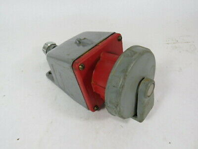 Hubbell 430R7W Female Receptacle 3Pole 4Wire 30A 480V  USED