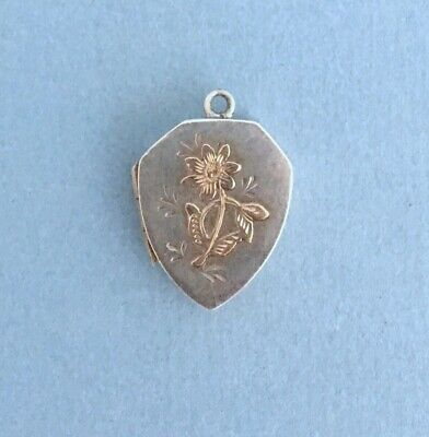 Arts & Crafts ANTIQUE 1896 STERLING SILVER LOCKET CHARM Albert E Jones Victorian