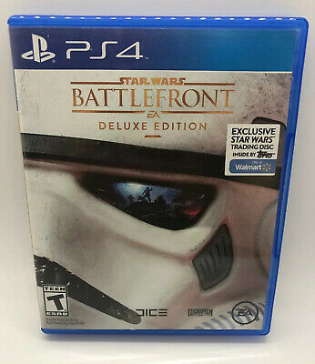Star wars Battlefront Deluxe Edition For PS4 (2015) Walmart Trading Disc