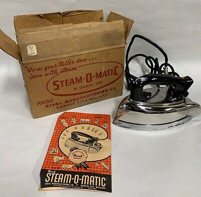 Vintage 1950s Steam-O-Matic Steam & Dry-Iron Made By Rival (A10)