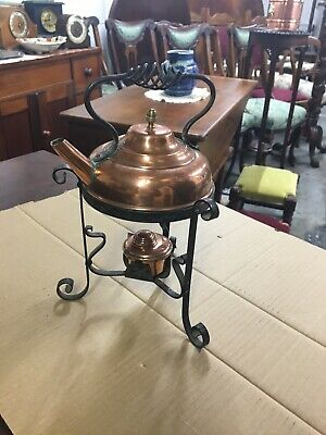 Early 20th Century Wrought Iron Kettle Stand And Burner