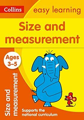Size and Measurement Ages 3-5: New E by Collins Easy Learning New Paperback Book