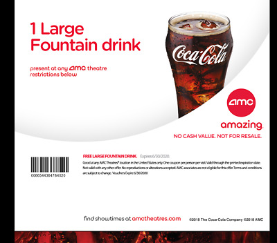 AMC Theatres - 2 Large Fountain Drinks - eDelivery
