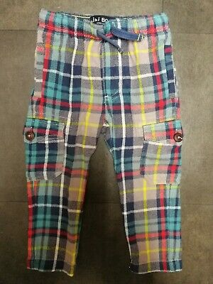 ****MINI BODEN*** Soft Checked Casual Trousers Age 2 Years