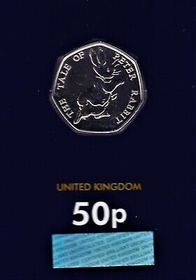 2017 The Tale Of Peter Rabbit, Fifty pence Coin 50p Brilliant Uncirculated,BUNC