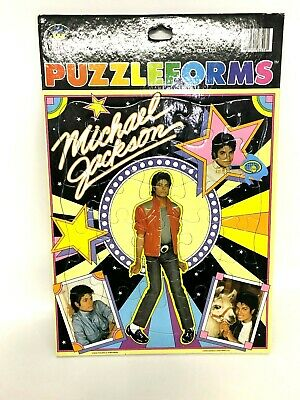 """Vintage 1984 """"Michael Jackson"""" Puzzleforms by Colorforms Frame Tray Puzzle"""