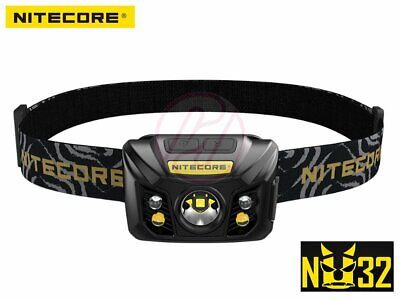 NiteCore NU32 Cree XP-G3 S3 WHITE+CRI+RED USB Rechargeable Head Torch Headlamp