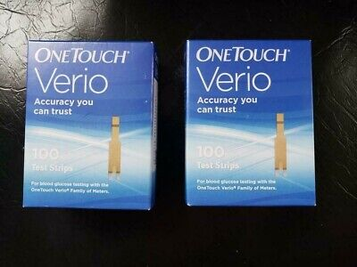 200 One Touch Verio Test Strips [2-100ct Boxes]