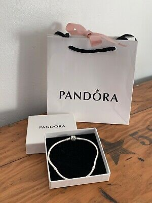 BN Genuine Pandora Moments Snake Chain Bracelet  Sterling Silver with Box & Bag