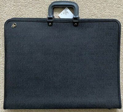 ART DRAWING A3 BLACK ZIP UP PORTFOLIO CASE with HANDLES and STRAP BRAND NEW