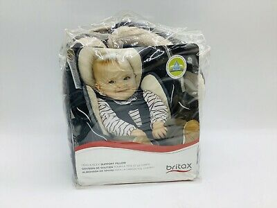 Britax Head Body Support Pillow, Iron/Gray Fits Car Seat/Stroller Harness New