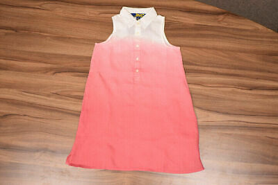Polo Ralph Lauren Girls Gradient Sleeveless Half Button Up Dress