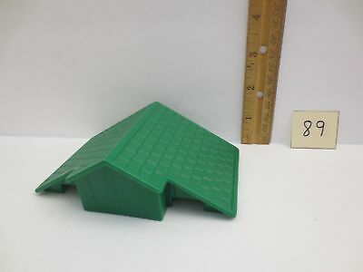 """Lincoln Logs Train Station//Bank Roof with Decals 5/"""" X 5/""""   M-7328 Hasbro 1998"""