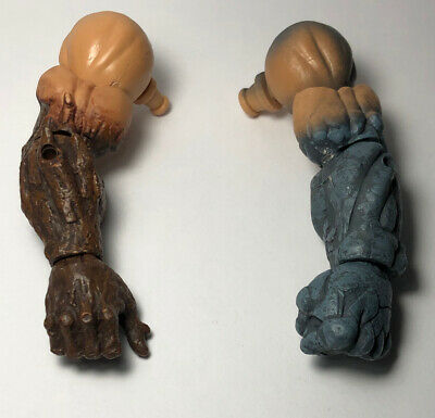 Absorbing Man Arms Left Right Wood//Stone LOOSE BAF piece Marvel Legends series