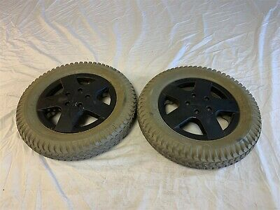 Invacare TDX SP Pr1mo Powertrax 3.00-8 Solid Filled Tires and Wheels