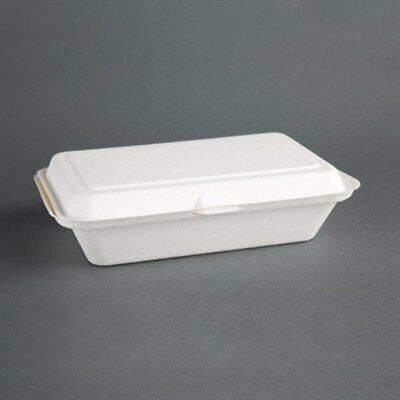 Fiesta Green Compostable Hinged Container 248mm (Pack of 250) DW249 [F9GI]
