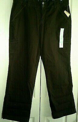 Sonoma Brown Cargo Pants NEW w/ Tags ~ Size 16 Cotton Spandex ~ Retail $40