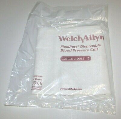 Welch Allyn 901044 FlexiPort Large Adult 12 Disposable Blood Pressure Cuff