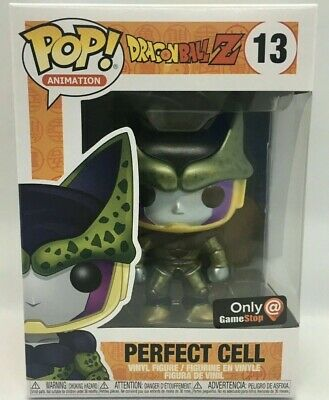 Funko Pop! PERFECT CELL Dragon Ball Z Dbz Metallic GameStop Exclusive # 13 NIB