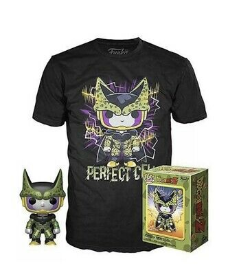 Funko Pop Tees Dragon Ball Z Perfect Cell GameStop Exclusive Sealed Size Medium