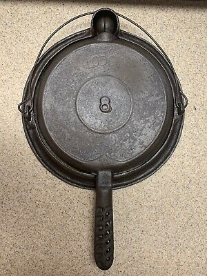 Antique Vintage Cast Iron Lodge #8 Waffle Iron - Waffle Maker - Free Shipping