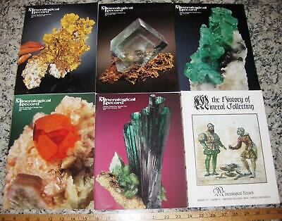 VOL 25 MINERALOGICAL RECORD 1994 All 6 Issues Complete Minerals Crystals Mining