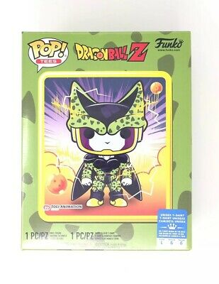 Funko Pop! Dragon Ball Z Perfect Cell #13 T-Shirt Bundle Size Large *FAST SHIP*