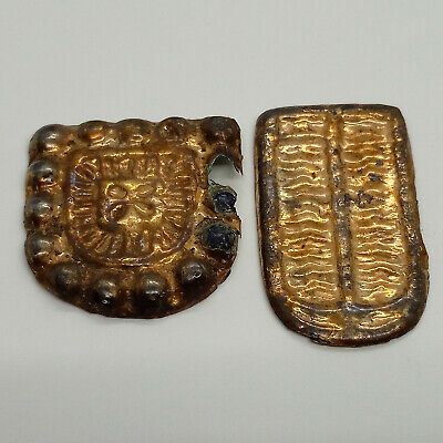 Silver Gold  Applique 2pc. Belt  / 100-300AD.  Scythian / Celtic / Rare