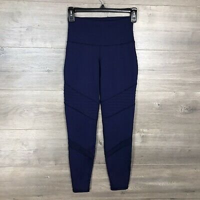 Old Navy Women's Size XS Fitted Leggings Navy Blue Go-Dry Stretch Skinny