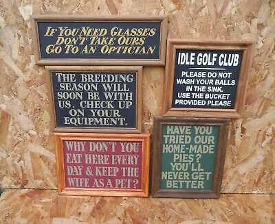 Pub and Bar Notice signs