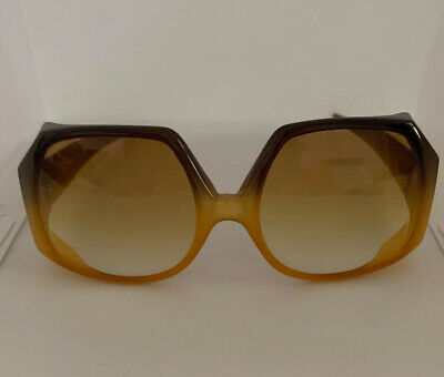 Vintage 1970's Christian Dior Amber Radiant Oversize Collectible VGC Sunglasses