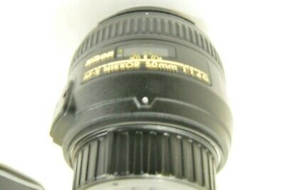 Nikon Af-S Nikkor 50 Mm 1:1.4 G Dx And Fx  With New Case 9+ Condition