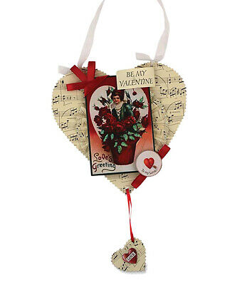Bethany Lowe Be My Valentine Paper Heart Ornament