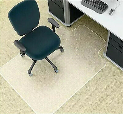 MARBIG POLYCARBONATE CHAIR MAT IN THE SHAPE SHOWN IN PHOTO. 114cm x 134cm. NEW.
