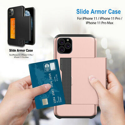 For Apple iPhone 11 Pro Max Wallet Case Card Holder Shockproof Cover