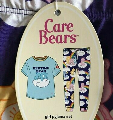 New Peter Alexander Pj Set Care.bears Top & Pants Jnr Girls Size 14 Rrp$69.95